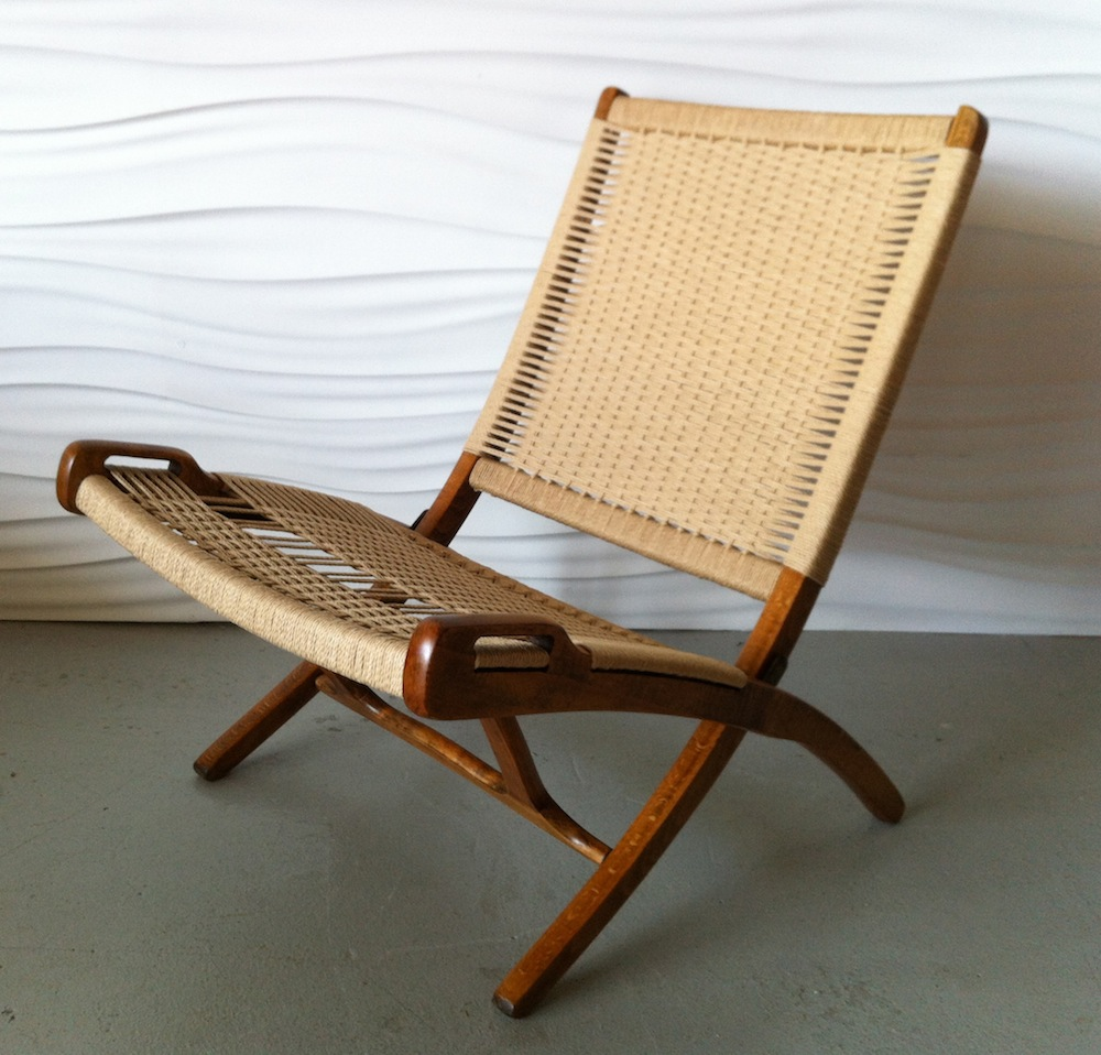 This ... & Wegner-style Yugoslavian folding rope chairs | Modern Chair Restoration