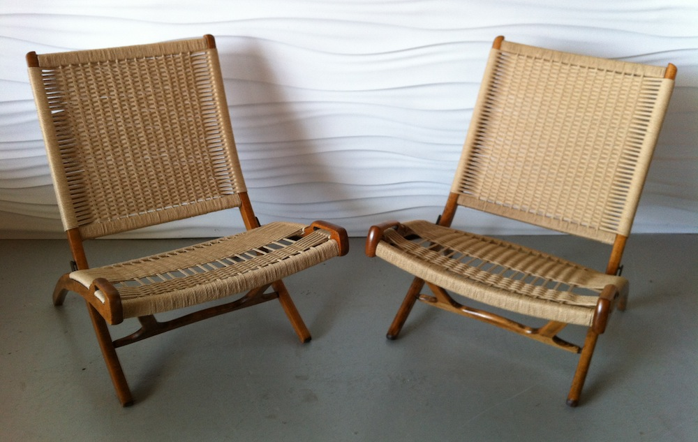 Magnificent Wegner Style Yugoslavian Folding Rope Chairs Modern Chair Ocoug Best Dining Table And Chair Ideas Images Ocougorg