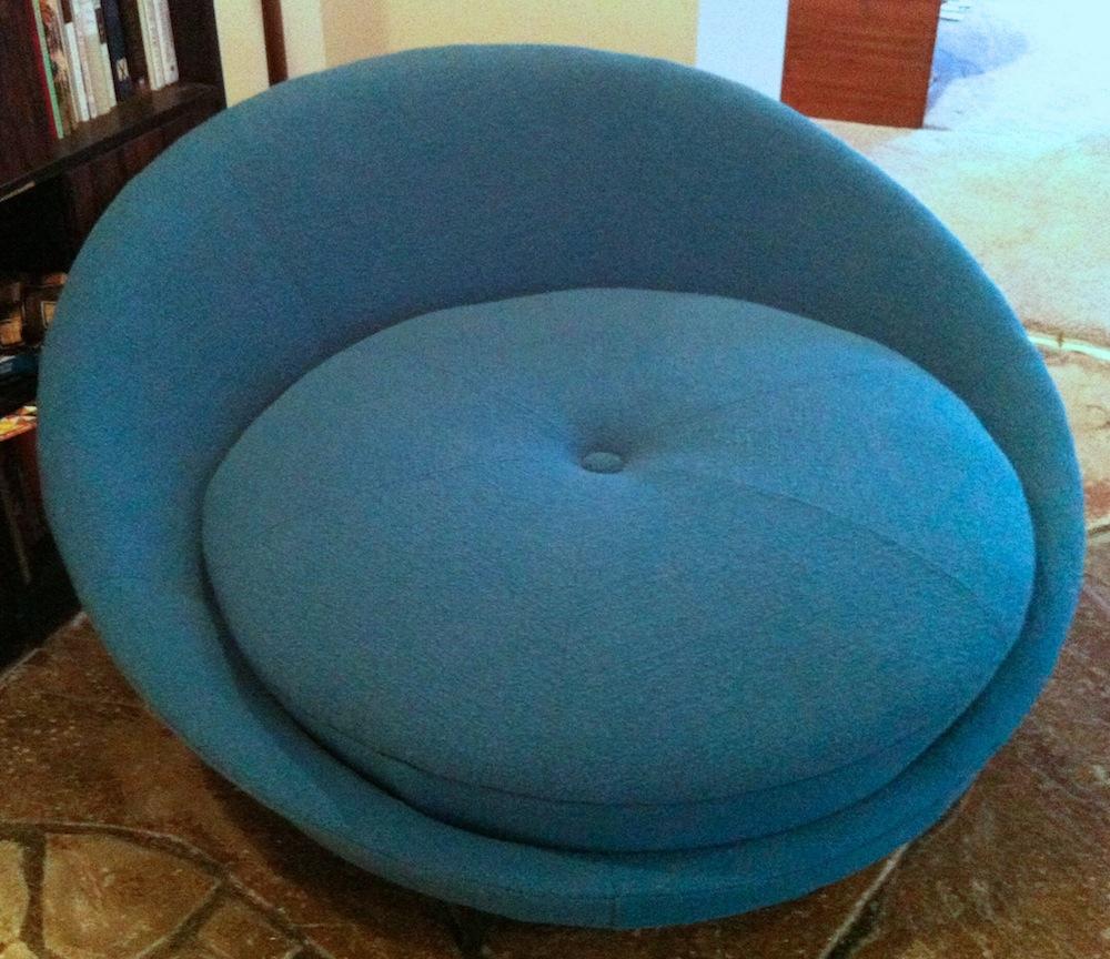Big round lounge chair