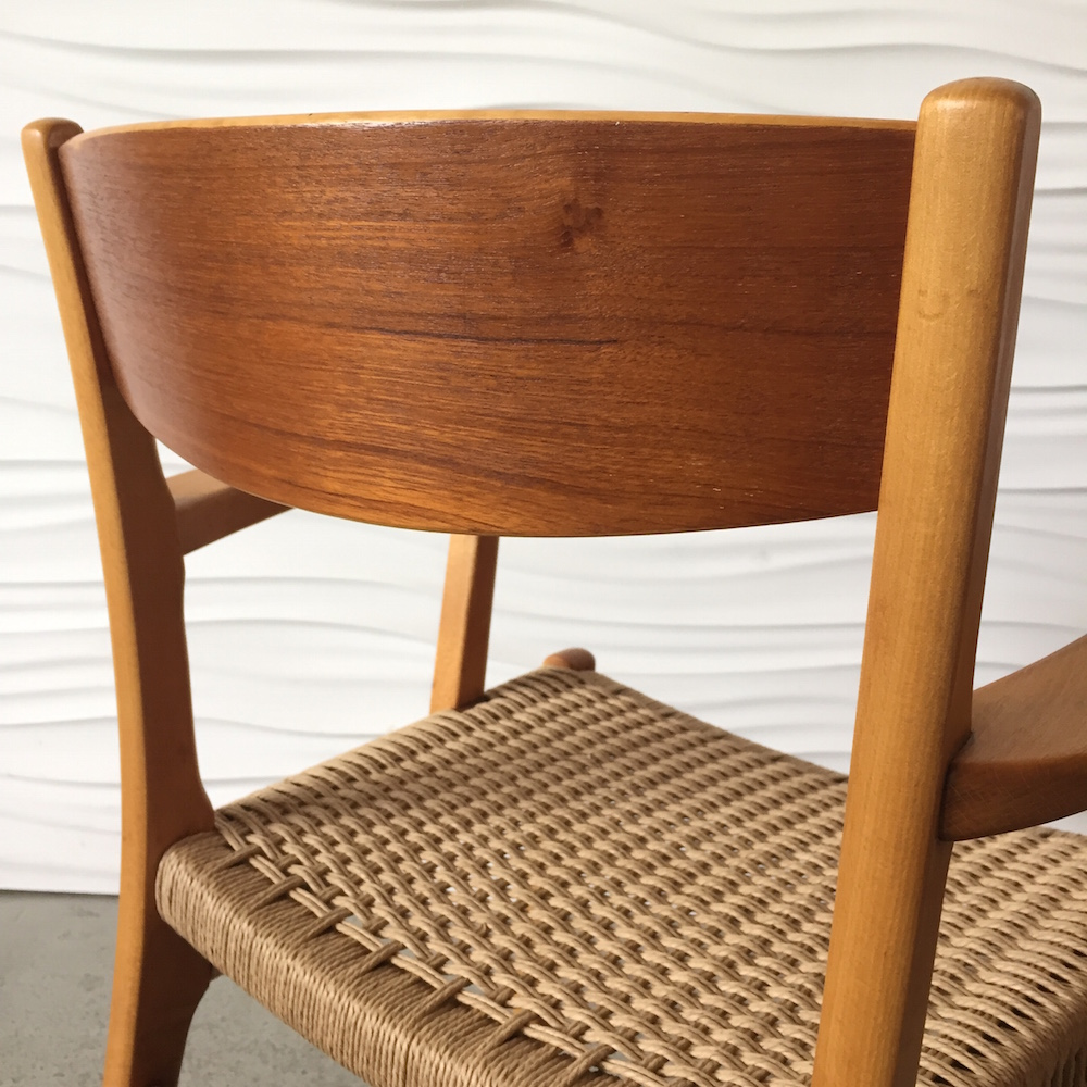 The Frames Are Solid Beech; The Backrests Are Teak Veneered Plywood. Very  Scandinavian!